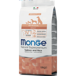 MONGE ALLBREEDS ADULT SALMONE RISO 2,5 KG