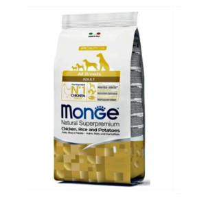 crocchette monge allbreeds adult  pollo riso patate 12 kg