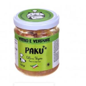 UMIDO MONOPROTEICO PAKU COTTO A VAPORE VITELLO E VERDURE 150GR