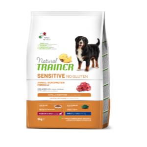 TRAINER SENSITIVE NO GLUTEN MED/MAXI AGNELLO ADULT 12 KG