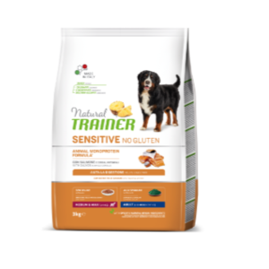 TRAINER SENSITIVE ADULT SALMONE E CEREALI INTERGALI MED/MAXI 3KG