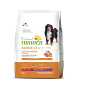 TRAINER Sensitive No Gluten Medium&Maxi Mature con Salmone 3 KG