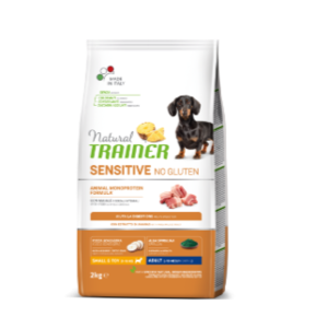 TRAINER SENSITIVE NO GLUTEN MINI AL MAIALE 02 KG