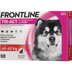 FRONTLINE TRIACT ANTIPARASSITARIO CANE  40-60 KG CONF. DA 3 PIPETTE