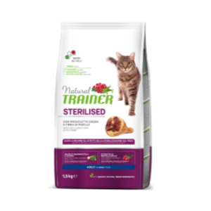 TRAINER GATTO STERILIZED CON PROSCIUTTO CRUDO 1,5 KG