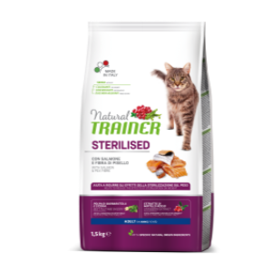 TRAINER GATTO STERILIZED CON SALMONE 1,5 KG