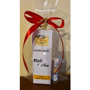 confezioni crema mani o shampoo alla propoli o shampoo alla papa reale o shampoo al miele  insieme a uno  stick