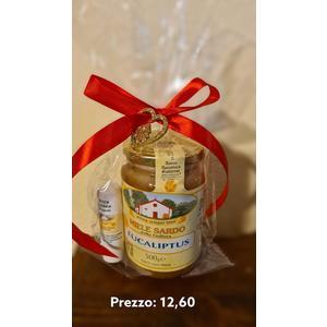 miele di eucaliptus 500 g 0 (lavanda ,cardo,millefiori,macchia mediterranea , colline della gallura da 500g) con strick a scelta