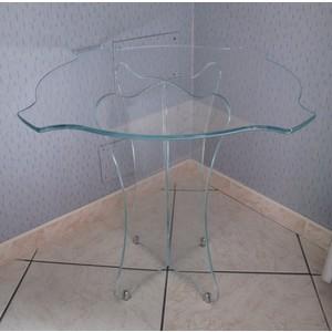 Tavolino d'arredo in cristallo extrachiaro