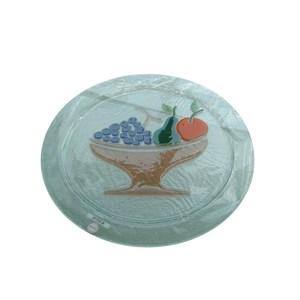 Piatto trasparente d'appoggio con cesto frutta centrale da 6mm