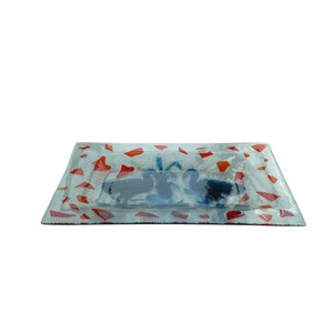 Vassoio d'appoggio in vetro colorato da 6mm