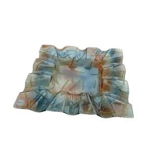 Centrotavola in vetro colorato con fondo sfumato da 6mm