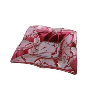 Bomboniera d'appoggio in vetro colorato rosso bordeaux da 6mm