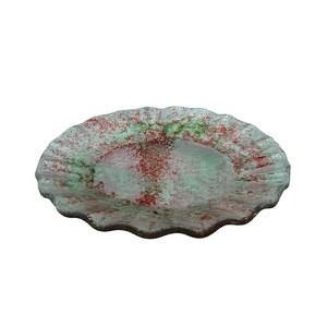 Piatto d'appoggio mod. ondina in vetro colorato da 6mm