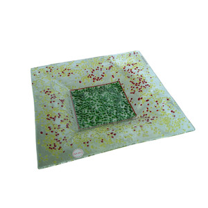 Piatto d'appoggio mod. quadro in vetro colorato da 6mm