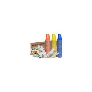 50 Bicchieri-Palette-Zucchero Kit Accessori BICCHIERI COLORATI