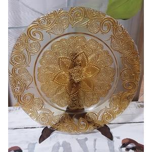 piatto vetro damascato