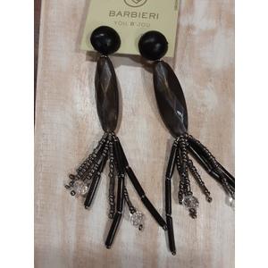 orecchini grigio nero pendenti