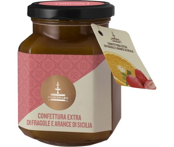 Marmellata fragole e arance di sicilia gr.360