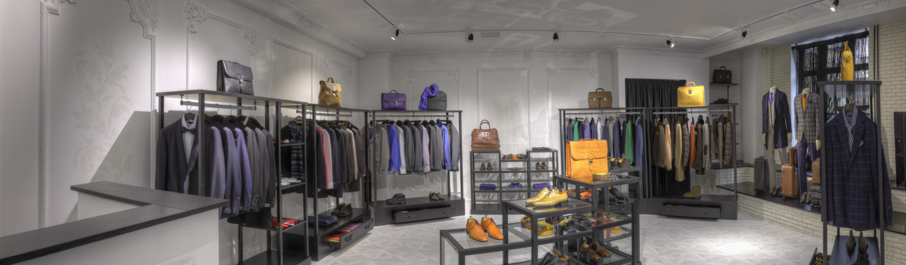 Suits and shoes in clothing store for men n7cyb67