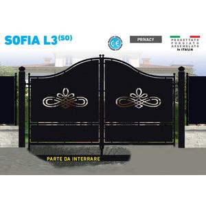 Cancello in ferro battuto, battente monoblocco, Sofia L3