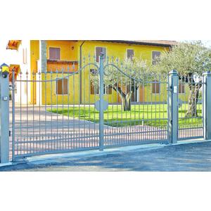 Cancello in ferro battuto, battente monoblocco, Cristina