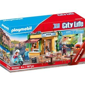 Playmobil City Life Pizzeria con giardino 70336