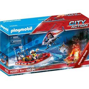 Playmobil Action Missione Antincendio con Elicottero e Gommone 70335