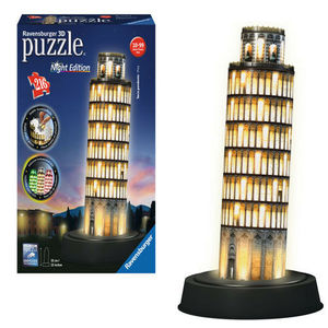 Ravensburger Torre di Pisa  con Led Puzzle 3D Night Edition