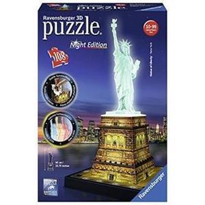 Ravensburger Statua della Libertà con Led Puzzle 3D Night Edition