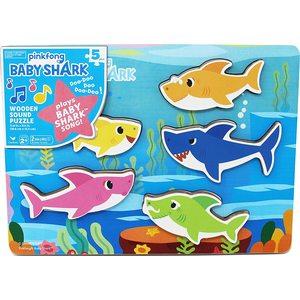 Baby Shark Puzzle a Incastro in Legno Musicale