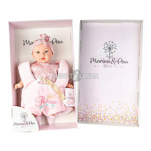 MARINA & PAU Bambola 45 cm. Alina con Porta Bebè