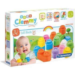 Clementoni Clemmy 24 pezzi Soft Blocks Set