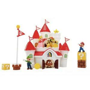 Nintendo Super Mario Castello di Peach con personaggi deluxe