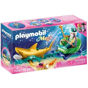 Playmobil Magic Re dei Mari con Carrozza e Squalo 70097