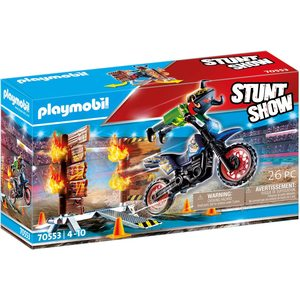 Playmobil Stunt Show Moto da Acrobazia 70553