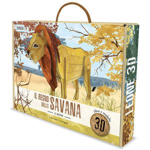 Sassi Il Regno della Savana Libro e Modello in 3D del Leone