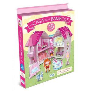 Sassi La Casa delle Bambole 3D Libro più modellino da Costruire