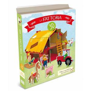 Sassi La Fattoria 3D Libro e Modellino da Costruire
