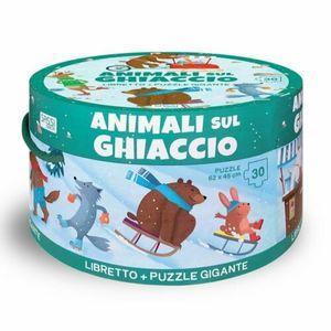 Sassi Animali sul Ghiaccio Libretto più Puzzle Gigante
