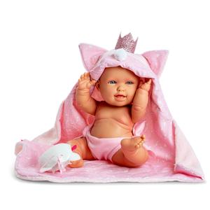 """Berjuan Bambola Articolata in Vinile """"Andrea Baby Gattino"""" 38 cm"""