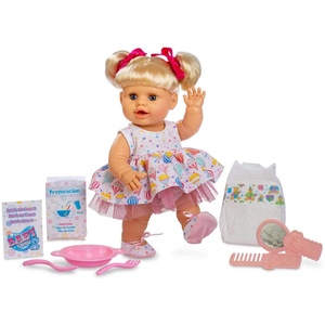 Berjuan Bambola Baby Susù Interattiva con Accessori, 38 cm