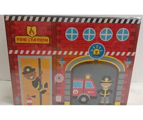 Gioco pompieri legno 1