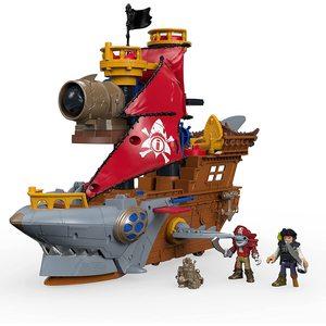 Imaginext Nave dei Pirati a Forma di Squalo con Personaggi