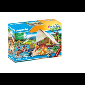 Playmobil Famigl9ia In Campeggio