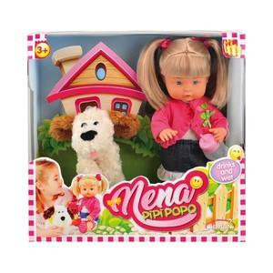 Bambola Nena Pipi' e Popò con Cane 36 cm