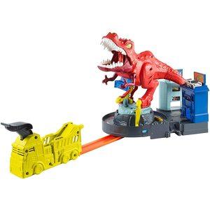 Hot Weels Pista Assalto del T-Rex con Lanciatore per Macchine