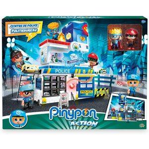 Pinypon Action Stazione di Polizia con 2 Personaggi Mix&Match e Accessori