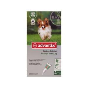 Advantix Spot-on 4 pipette 0.4 cani fino a 4 Kg.