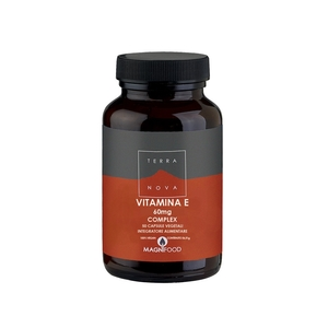 TerraNova Vitamina E complex 60 mg 50 cp vegetali Vitamina E naturale 60 capsule